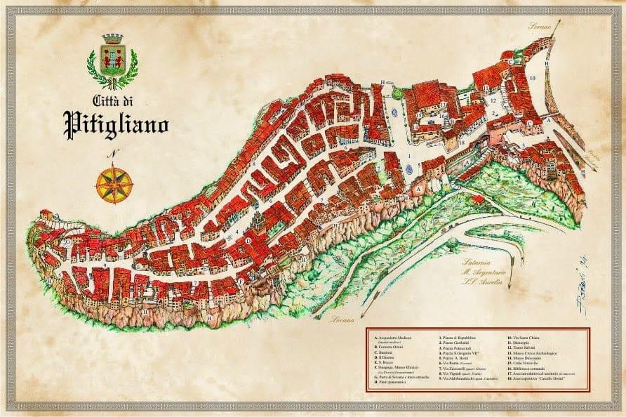 Mappa di Pitiglia